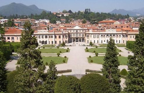 giardini estensi veduta dall'alto